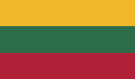 recognized: Lithuania.vector flag of the independent state Illustration