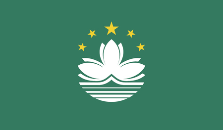 diminishing perspective: Macau flag vector illustration.