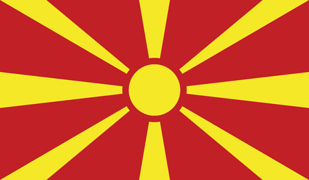 independent: Macedonia.vector flag of the independent state