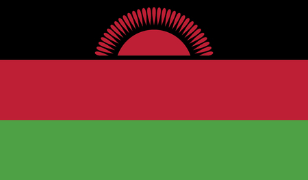 malawi flag: Malawi flag vector illustration. c Illustration