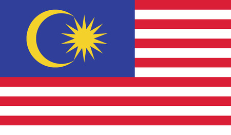 malaysia: Malaysia.vector flag of the independent state