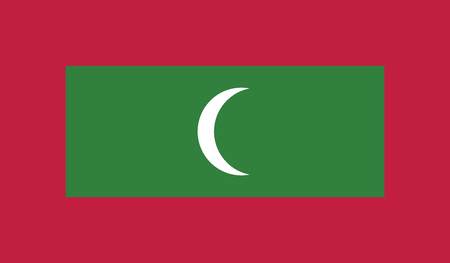 independent: Maldives.vector flag of the independent state