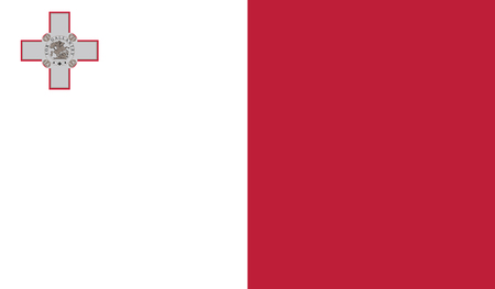 malta cities: Malta.vector flag of the independent state