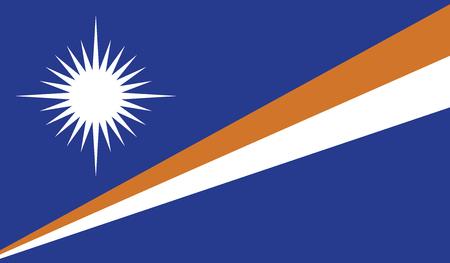flagging: Marshall Islands flag vector illustration.