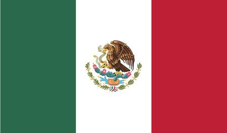 Mexico.vector vlag van de onafhankelijke staat
