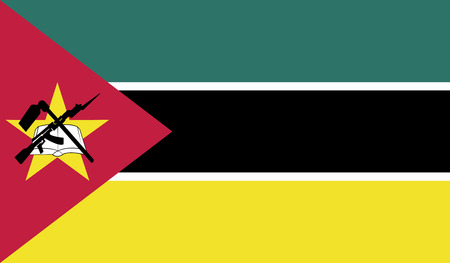 flagging: Mozambique flag vector illustration. created EPS 10