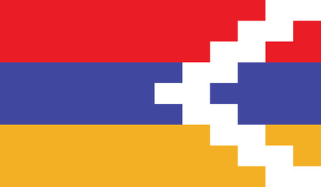 diminishing perspective: Nagorno Karabakh Republic flag vector illustration.