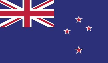 bandera de nueva zelanda: Nueva bandera Zealand.vector del estado independiente