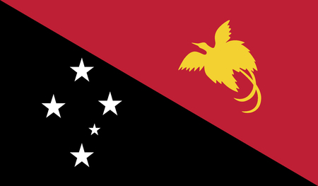 diminishing perspective: Flag of Papua New Guinea vector illustration.