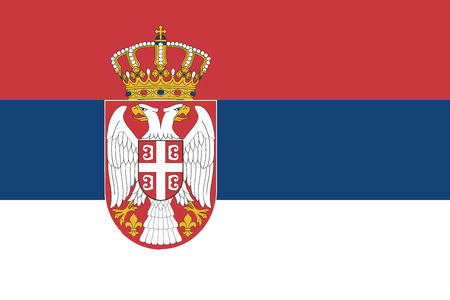 recognized: Republic of Serbia.vector flag of the independent state Illustration