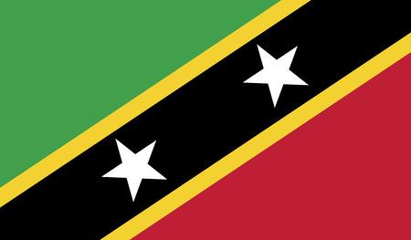 flagging: Saint Kitts and Nevis flag vector illustration.