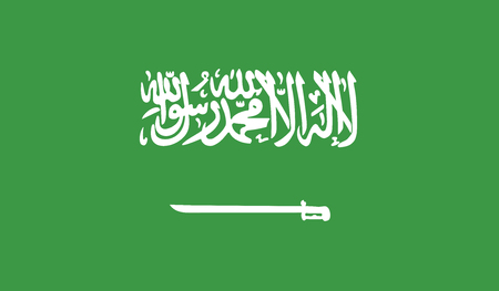 recognized: Saudi Arabia.vector flag of the independent state Illustration