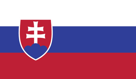 recognized: Slovakia.vector flag of the independent state
