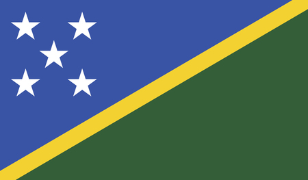 diminishing perspective: Solomon Islands flag vector illustration. created EPS 10
