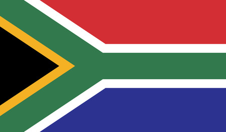 recognized: South Africa.vector flag of the independent state