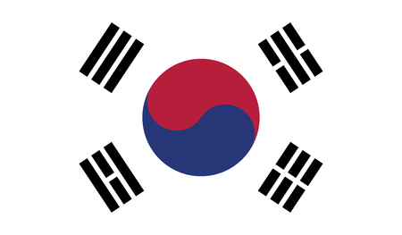 independent: South Korea.vector flag of the independent state Illustration