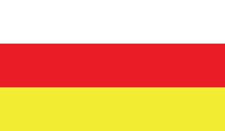 flagging: South Ossetia flag vector illustration.