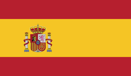 recognized: Spain.vector flag of the independent state