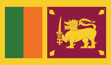 independent: Sri Lanka.vector flag of the independent state