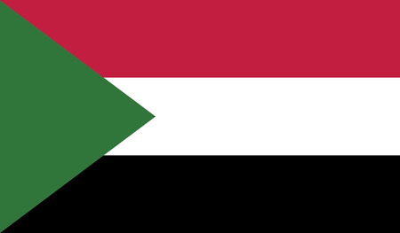 diminishing perspective: Sudan flag vector illustration.  Illustration