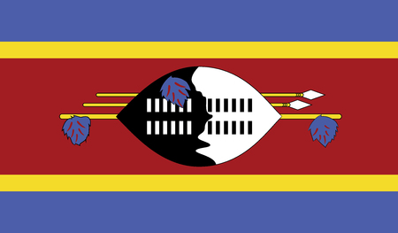 recognized: Swaziland.vector flag of the independent state Illustration