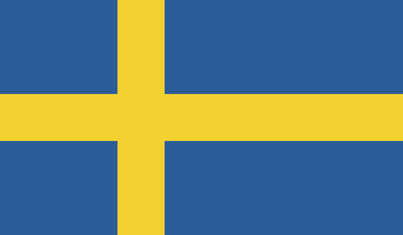 recognized: Sweden.vector flag of the independent state Illustration