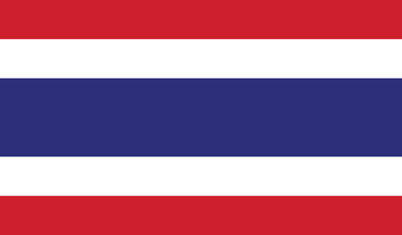 recognized: Thailand.vector flag of the independent state