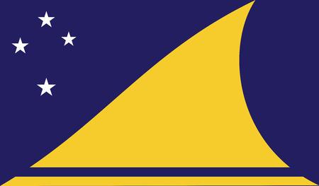 diminishing perspective: Tokelau flag vector illustration.  Illustration