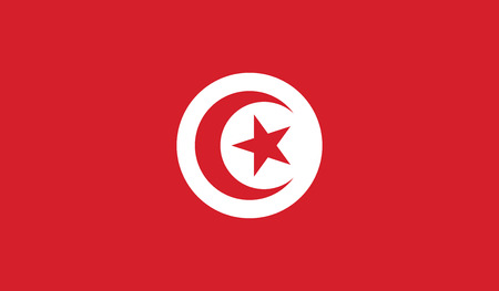 recognized: Tunisia.vector flag of the independent state Illustration