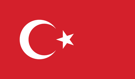 recognized: Turkey.vector flag of the independent state Illustration