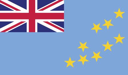 diminishing perspective: Tuvalu flag vector illustration. Illustration