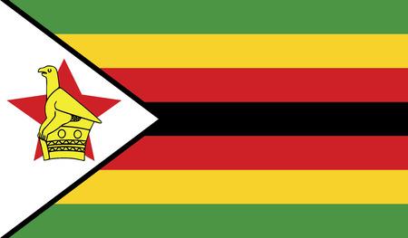 diminishing perspective: Zimbabwe flag vector illustration. created EPS 10