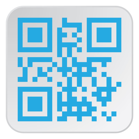 Beautiful QR Code. This QR Code suitable for registration of sites and projects Illustration