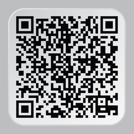 美しい QR コードです。この QR コードのサイトおよびプロジェクトの登録に適して  イラスト・ベクター素材