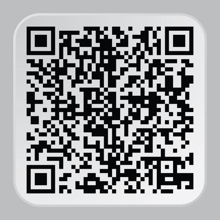 qrcode: Beautiful QR Code. This QR Code suitable for registration of sites and projects Illustration