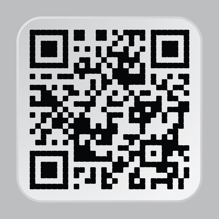 qr code: Beautiful QR Code. This QR Code suitable for registration of sites and projects Illustration