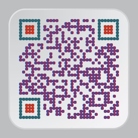 Beautiful QR Code. This QR Code suitable for registration of sites and projects 일러스트