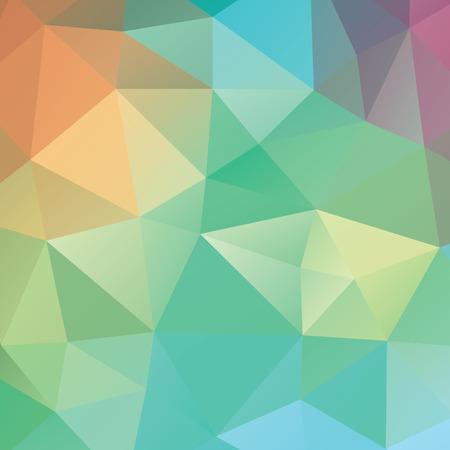 fondo geometrico: Fondo geom�trico abstracto. Tri�ngulos multicolores. Hermosa inscripci�n. Tri�ngulo fondo con l�neas brillantes. Patr�n de formas geom�tricas de cristal. Bandera mosaico multicolor
