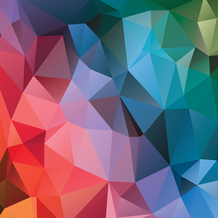 intent: Abstract geometric background. Multicolored triangles. Beautiful inscription. Triangle background with bright lines. Pattern of crystal geometric shapes. Multicolor mosaic banner