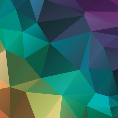 intent: Abstract geometric background version 1. Multicolored triangles. Beautiful inscription. Triangle background with bright lines. Pattern of crystal geometric shapes. Mosaic banner Illustration