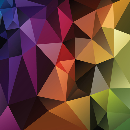 fondo geometrico: Abstract geometric background version 1. Multicolored triangles. Beautiful inscription. Triangle background with bright lines. Pattern of crystal geometric shapes. Mosaic banner Vectores