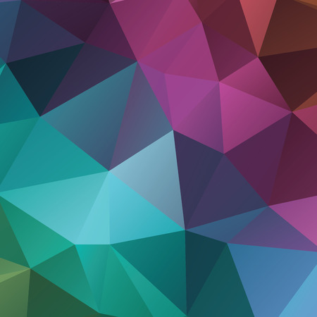 elasticity: Abstract geometric background version 1. Multicolored triangles. Beautiful inscription. Triangle background with bright lines. Pattern of crystal geometric shapes. Mosaic banner Illustration