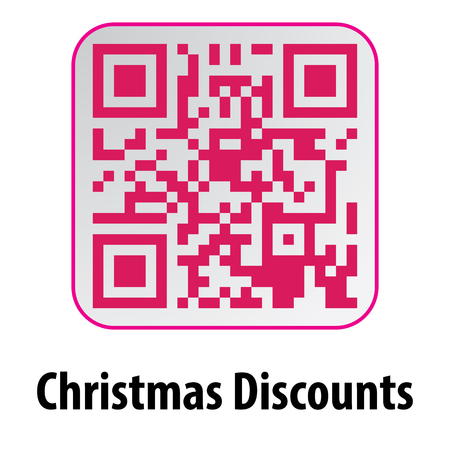 intent: Beautiful QR Code. This QR Code Christmas Discounts