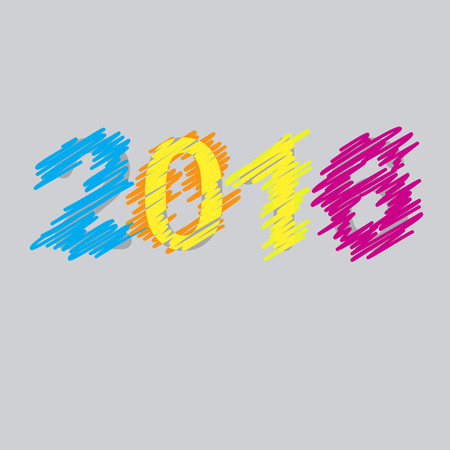 saved: Vector 2016 Happy New Year background. The file is saved in the version 10 EPS. This image contains transparency.