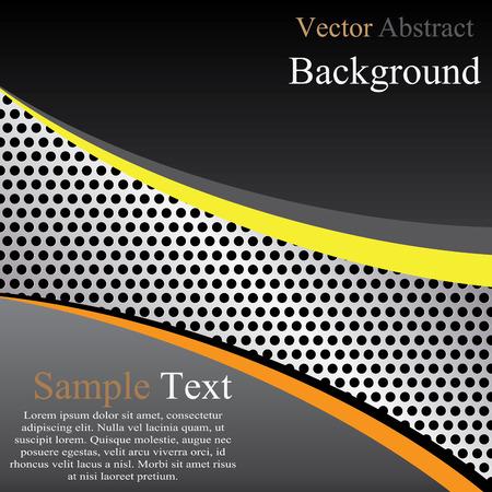 brushed aluminum: Abstract metal template background design, vector illustration Illustration
