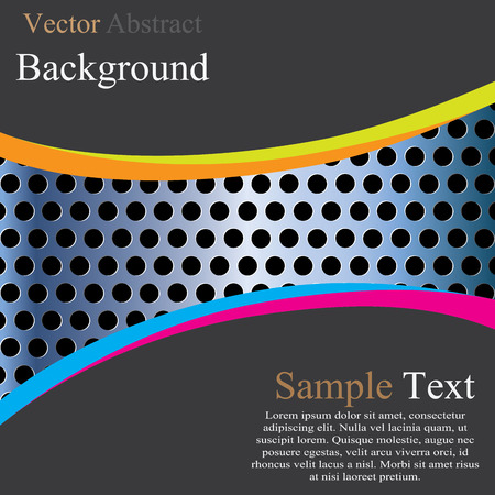 metal template: Abstract metal template background design, vector illustration Illustration
