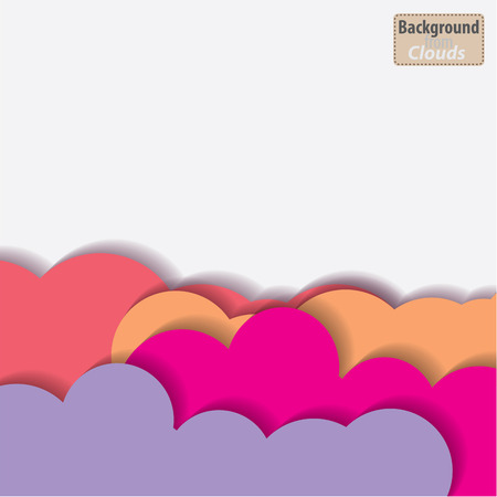 fluffy clouds: Seamless vector clouds background for design use
