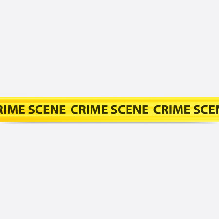 crime: vector image of a yellow crime scene tape Illustration