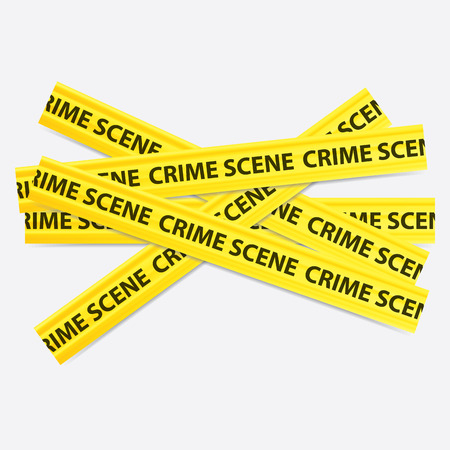 criminal case: vector image of a yellow crime scene tape Illustration