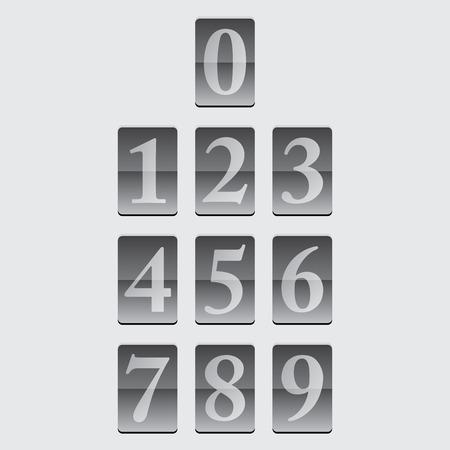 typeface: Vector numerals Typeface Font, excellent vector illustration  Illustration